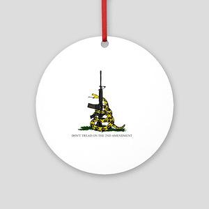Gadsden Flag - 2nd Amendment Round Ornament