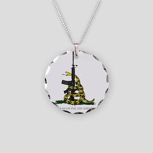 Gadsden Flag - 2nd Amendment Necklace Circle Charm