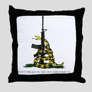 Gadsden Flag - 2nd Amendment Throw Pillow