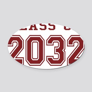 Class of 2032 (Red) Oval Car Magnet