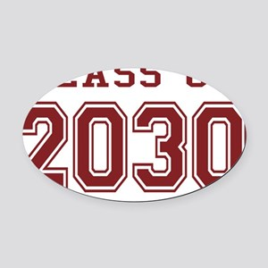 Class of 2030 (Red) Oval Car Magnet