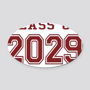 Class of 2029 (Red) Oval Car Magnet