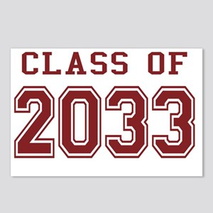 Class of 2033 (Red) Postcards (Package of 8)