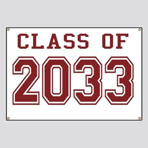 Class of 2033 (Red) Banner
