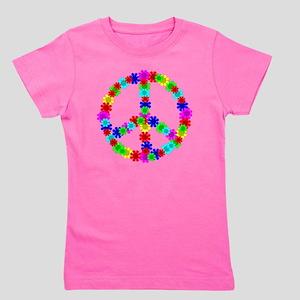 1960's Era Hippie Flower Peace Sign Girl's Tee