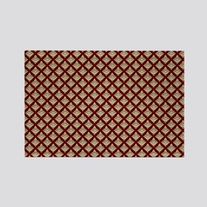 Elegant Medieval Red and Gold Rectangle Magnet