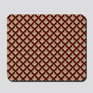 Elegant Medieval Red and Gold Mousepad