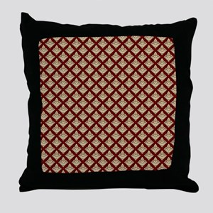 Elegant Medieval Red and Gold Throw Pillow