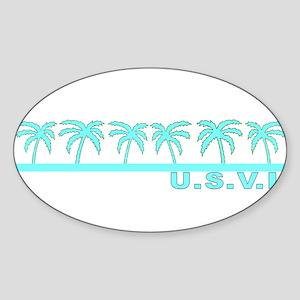 U.S.V.I. Oval Sticker