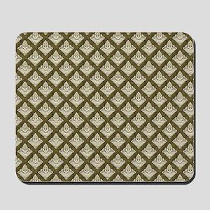 Elegant Medieval Olive Green Mousepad