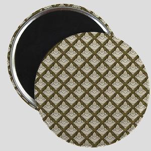 Elegant Medieval Olive Green Magnet