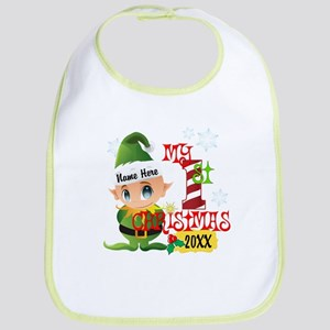 Baby Elf 1st Christmas Bib