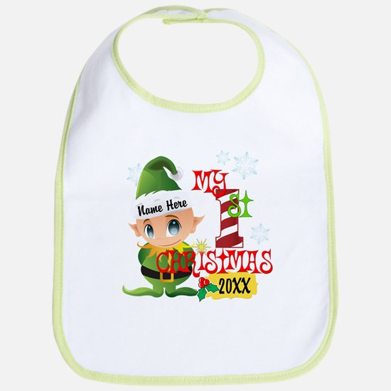 Baby Elf 1st Christmas Bib