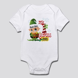 Baby Elf 1st Christmas Infant Bodysuit