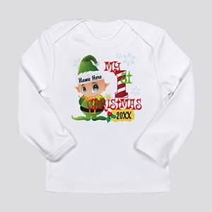 Baby Elf 1st Christmas Long Sleeve Infant T-Shirt
