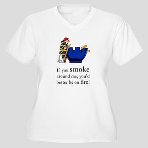 Better Be On Fire Women's Plus Size V-Neck T-Shirt