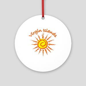 Virgin Islands Ornament (Round)