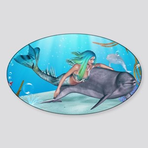 The Mermaid Sticker (Oval)