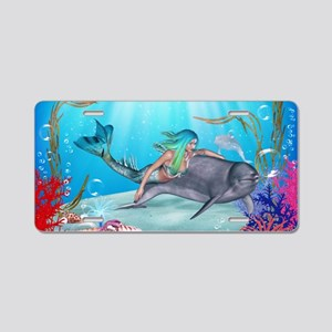 The Mermaid Aluminum License Plate