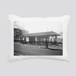Amoco Gas Station Rectangular Canvas Pillow