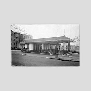 Amoco Gas Station 3'x5' Area Rug
