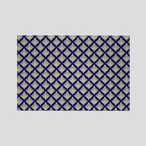 Elegant Medieval Blue and Gold Rectangle Magnet