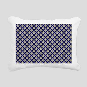 Elegant Medieval Blue an Rectangular Canvas Pillow