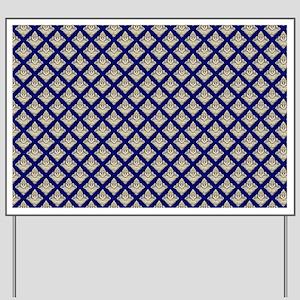 Elegant Medieval Blue and Gold Yard Sign