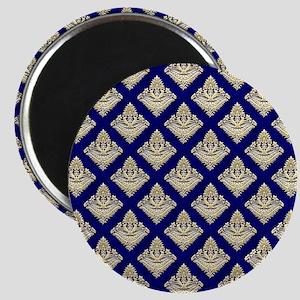 Elegant Medieval Blue and Gold Magnet