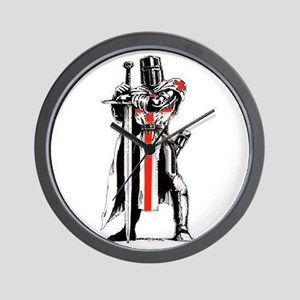 Templar Knight Wall Clock