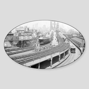 Brooklyn Bridge Terminal Sticker (Oval)