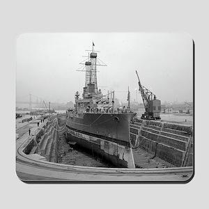 Brooklyn Navy Yard Dry Dock Mousepad