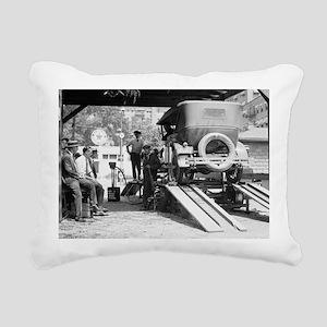 Automobile Service Stati Rectangular Canvas Pillow