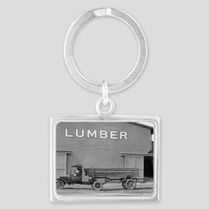 Early Ford Tractor Trailer Landscape Keychain