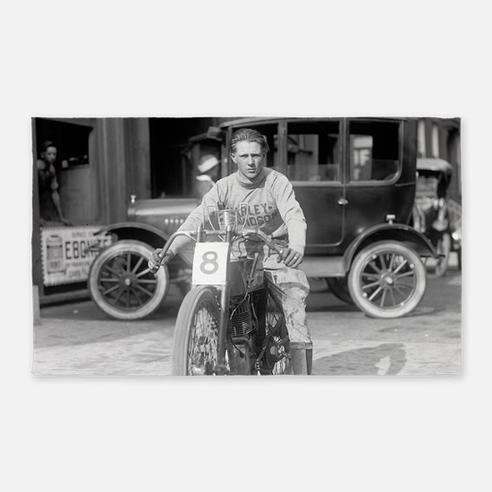 Harley-Davidson Motorcycle Racer 3'x5' Area Rug