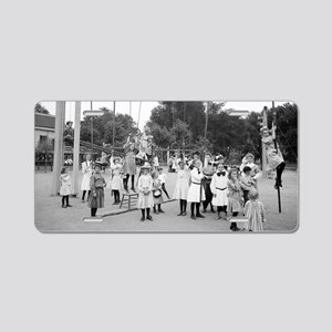 Girls Playground Aluminum License Plate