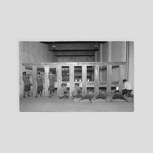Girls Rifle Team Practicing 3'x5' Area Rug