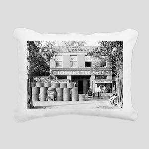 Lehman's Tire Shop Rectangular Canvas Pillow