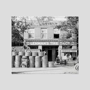 Lehman's Tire Shop Throw Blanket