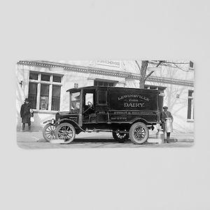 Lewinsville Dairy Truck Aluminum License Plate