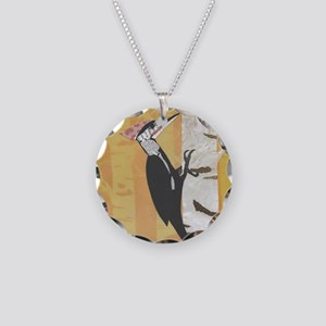 Pileated Woodpecker Necklace Circle Charm