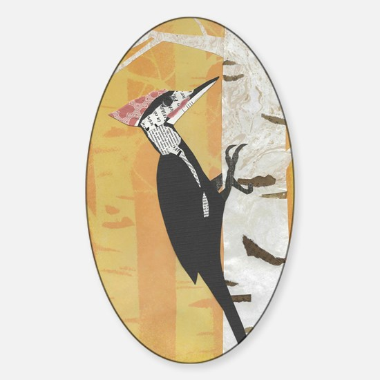 Pileated Woodpecker Sticker (Oval)