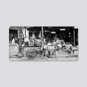 New Orleans French Market Aluminum License Plate