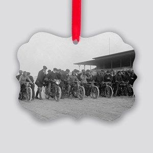 Motorcycle Races Picture Ornament