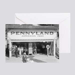 Pennyland Arcade Greeting Card