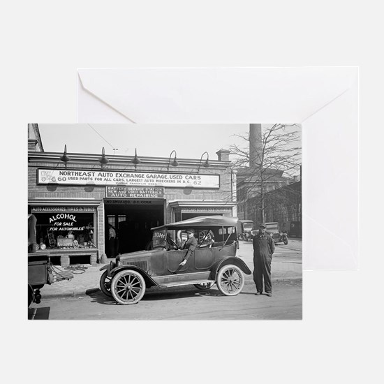 North East Auto Exchange Greeting Card