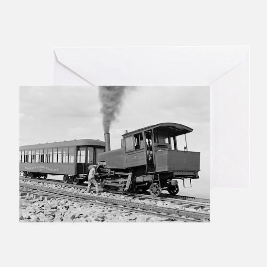 Pikes Peak Cog Railway Greeting Card