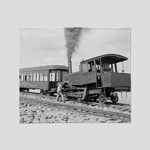Pikes Peak Cog Railway Throw Blanket