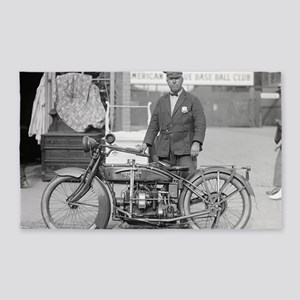 Motorcycle Police Officer 3'x5' Area Rug