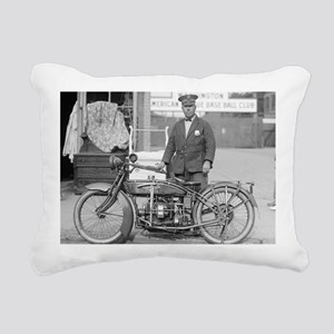 Motorcycle Police Office Rectangular Canvas Pillow